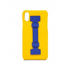 COVER FINGERS LEATHER YELLOW/BLUE