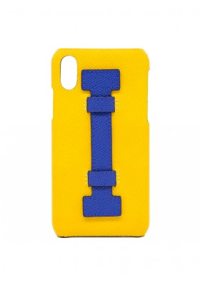 CASE FINGERS LEATHER YELLOW/BLUE