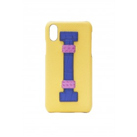 Cover Fingers Leather Yellow/Croco Blue Fucsia
