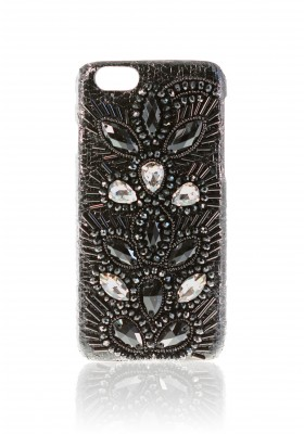 Case Embroidery Black Drops