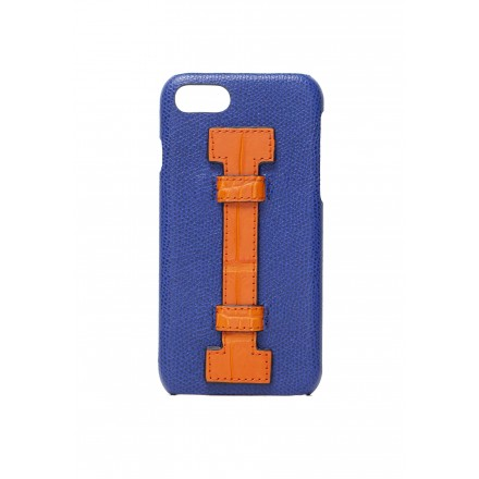 Cover Fingers Leather Blue/Croco Orange