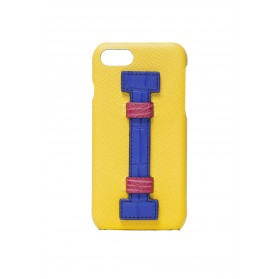 Cover Fingers Leather Yellow/Croco Blu-Fucsia