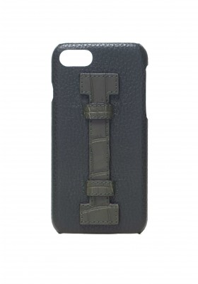 Case Fingers Leather Green/Croco Green