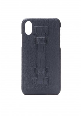 Case Fingers Leather Black/Croco Black