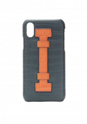 Case Fingers Croco Green/Orange