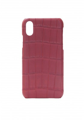 Case Croco Rouge Vif